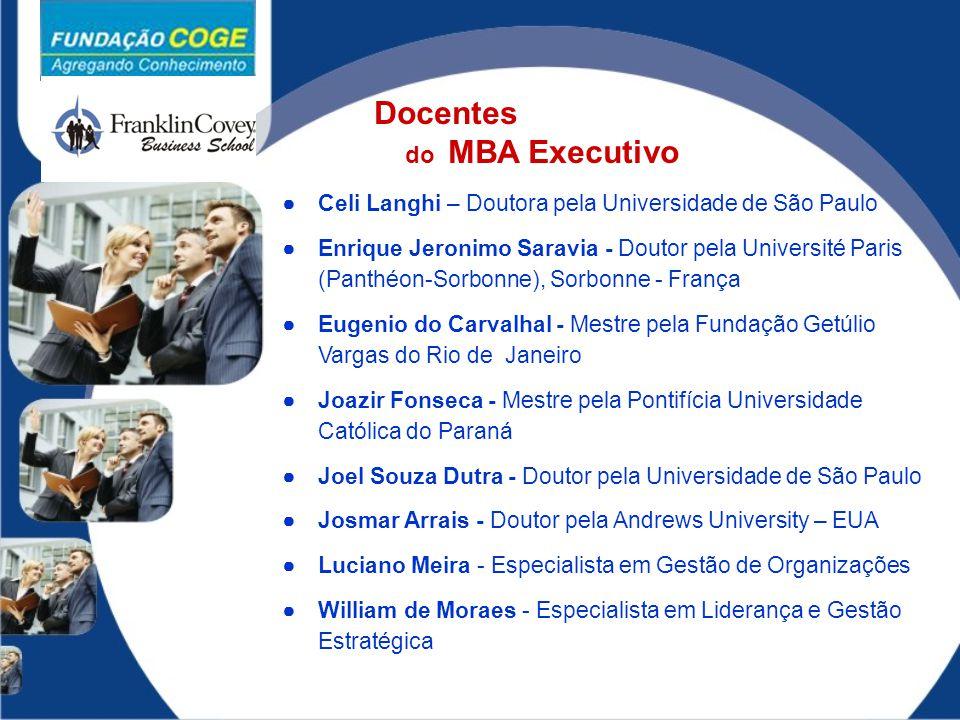 Docentes do MBA Executivo