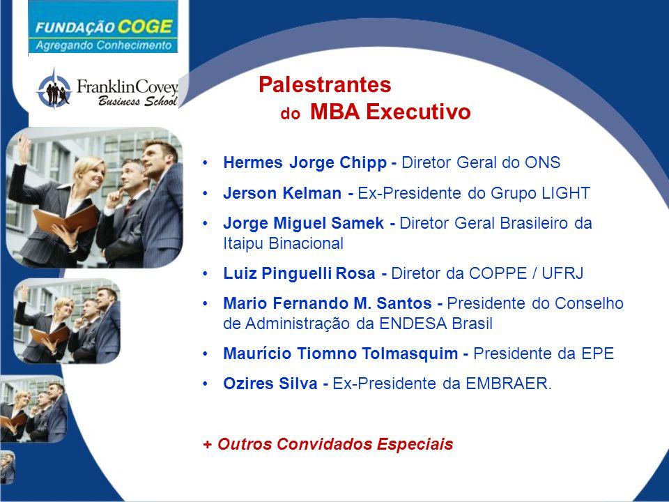 Palestrantes do MBA Executivo