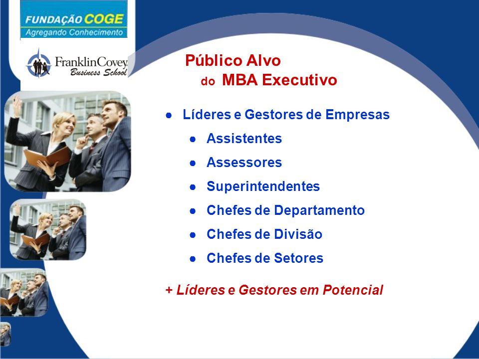 Público Alvo Líderes e Gestores de Empresas Assistentes Assessores