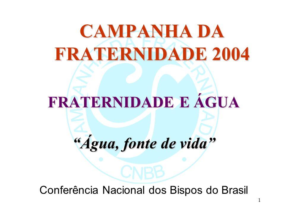 CAMPANHA DA FRATERNIDADE 2004