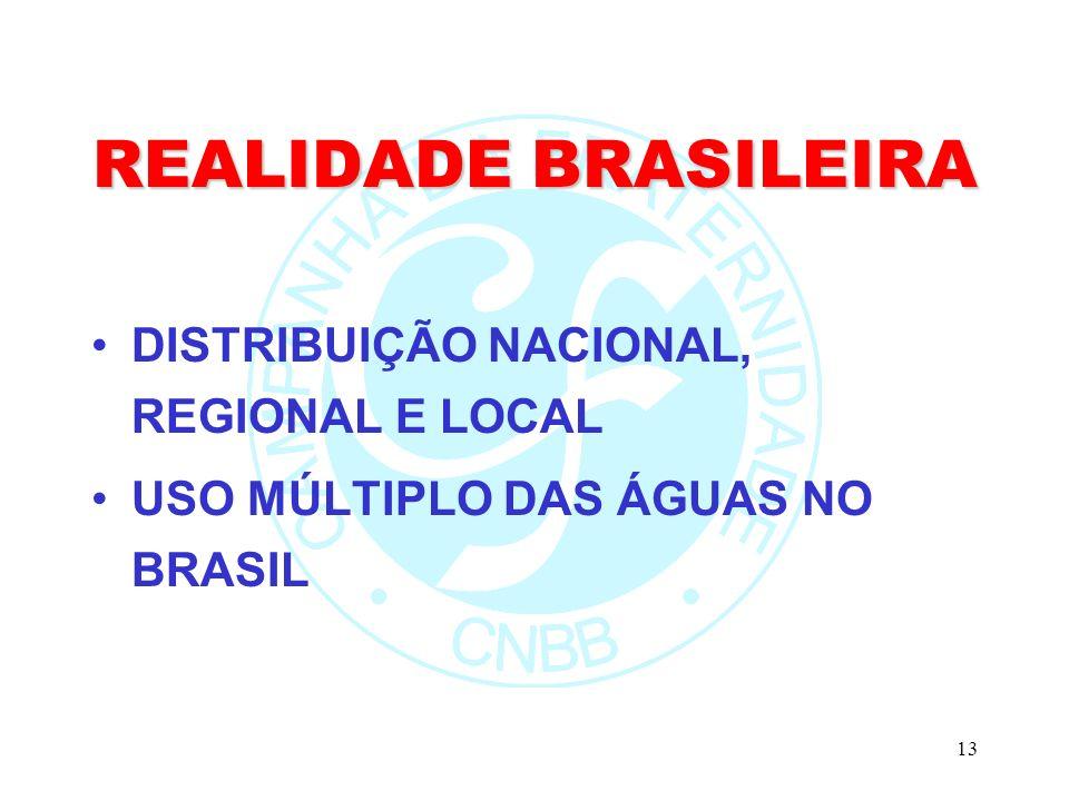 REALIDADE BRASILEIRA DISTRIBUIÇÃO NACIONAL, REGIONAL E LOCAL