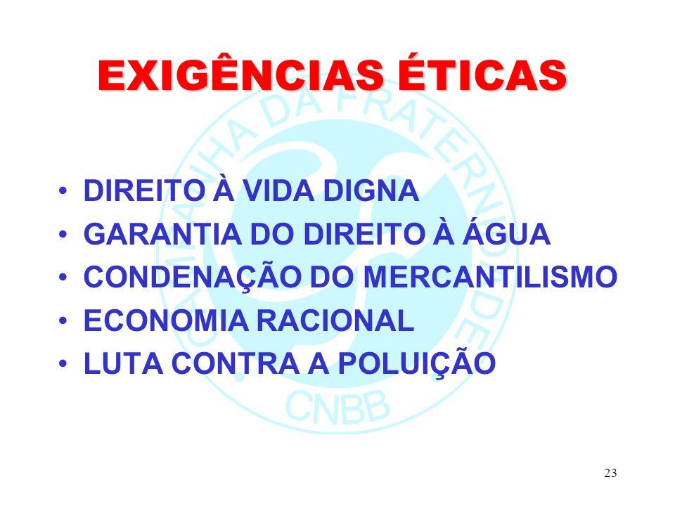 EXIGÊNCIAS ÉTICAS DIREITO À VIDA DIGNA GARANTIA DO DIREITO À ÁGUA