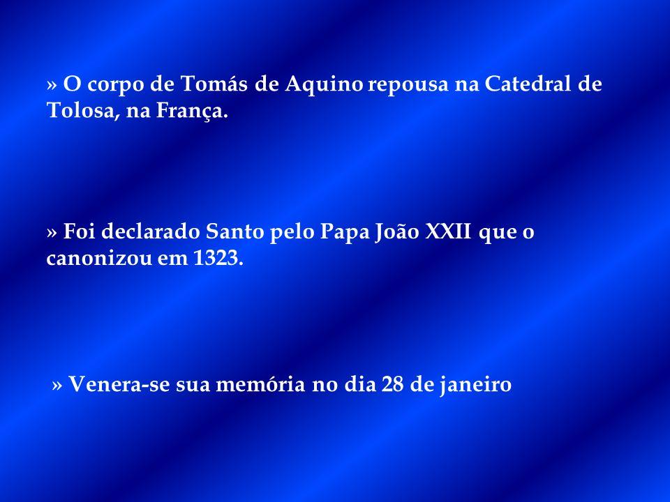 » O corpo de Tomás de Aquino repousa na Catedral de Tolosa, na França.