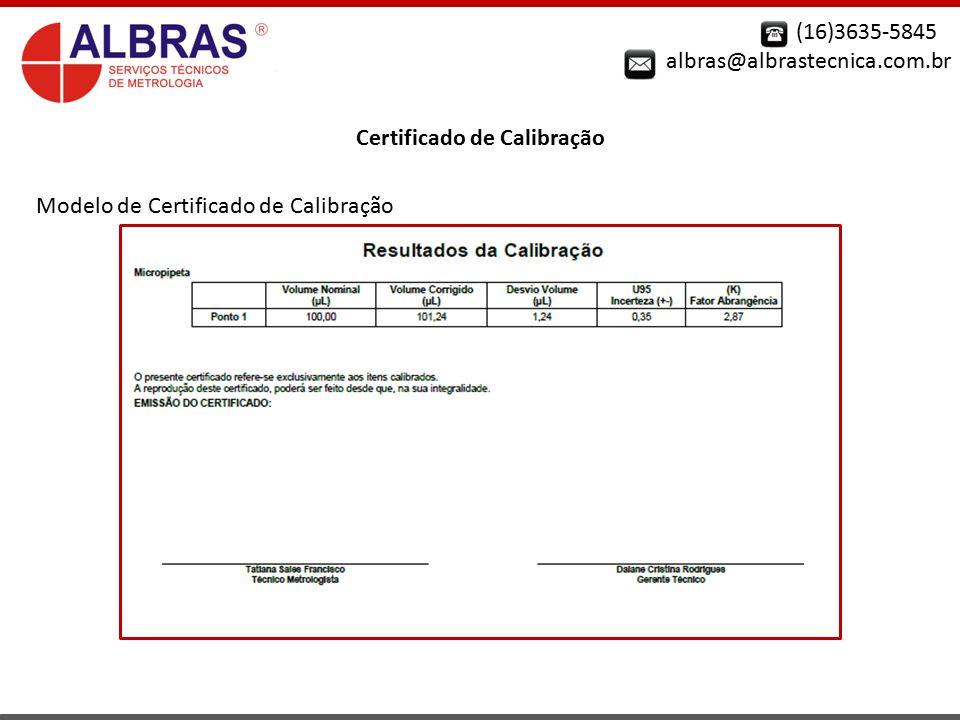 Certificado de Calibração