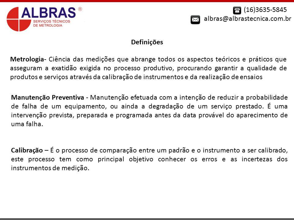 (16)3635-5845 albras@albrastecnica.com.br. Definições.