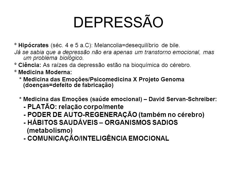 DEPRESSÃO - PLATÃO: relação corpo/mente