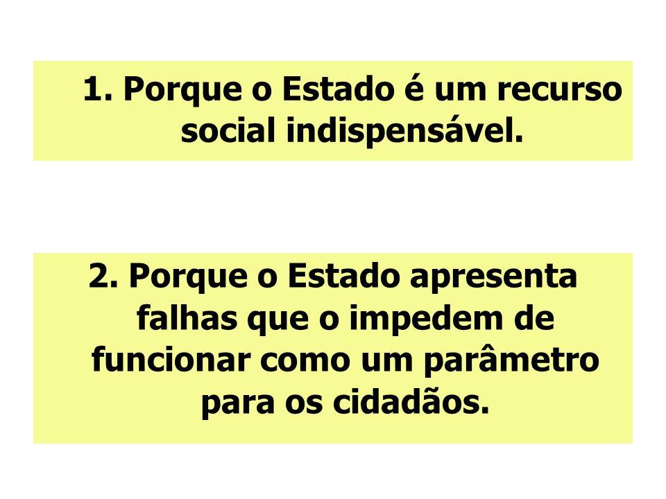 1. Porque o Estado é um recurso social indispensável.