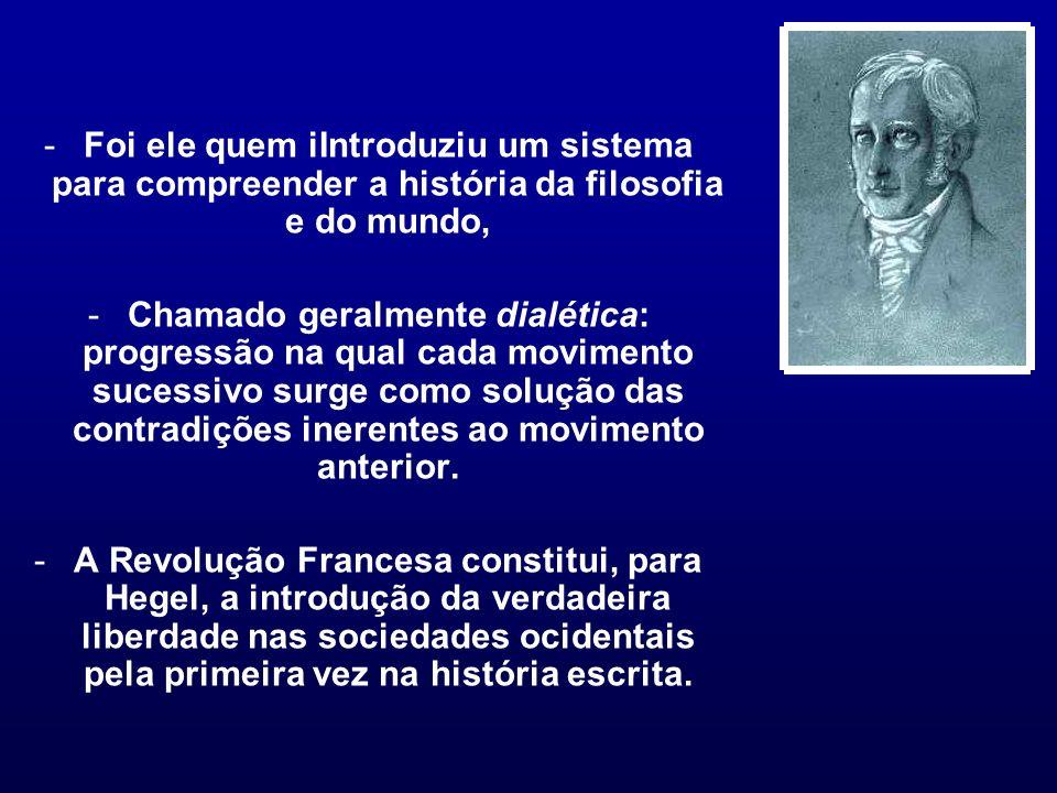 Foi ele quem iIntroduziu um sistema para compreender a história da filosofia e do mundo,