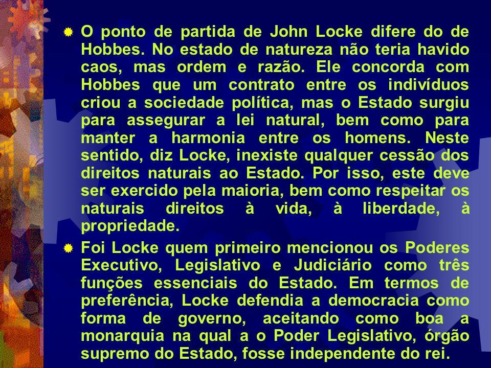O ponto de partida de John Locke difere do de Hobbes