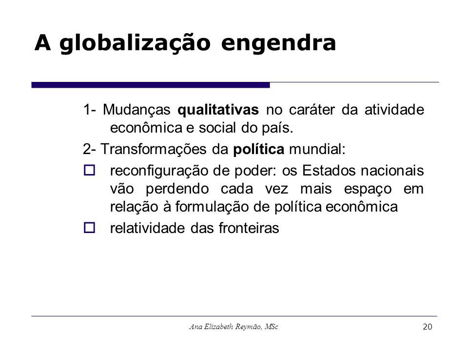A globalização engendra