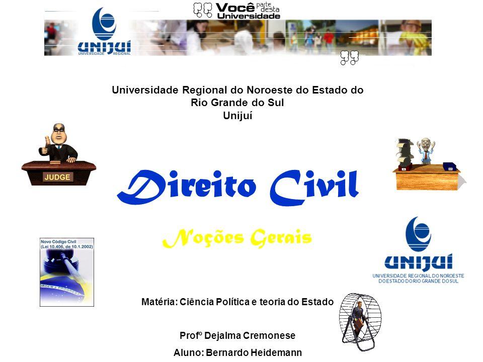 Direito Civil Noções Gerais