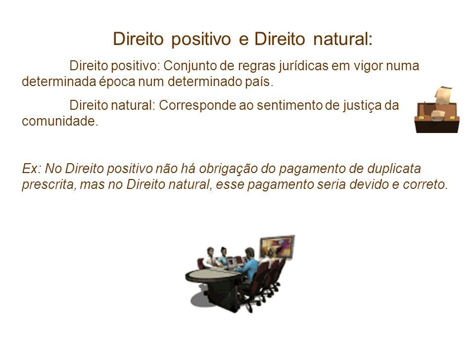 Direito positivo e Direito natural: