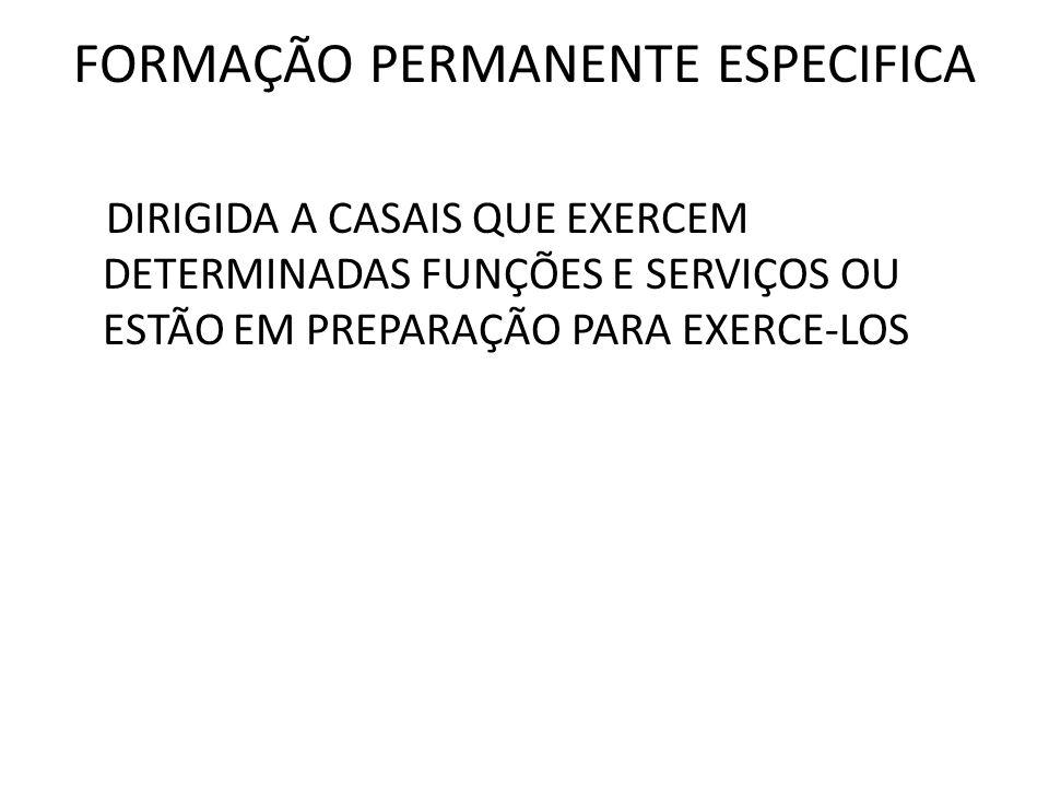FORMAÇÃO PERMANENTE ESPECIFICA