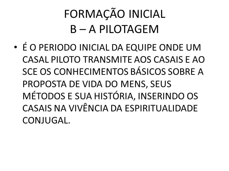 FORMAÇÃO INICIAL B – A PILOTAGEM