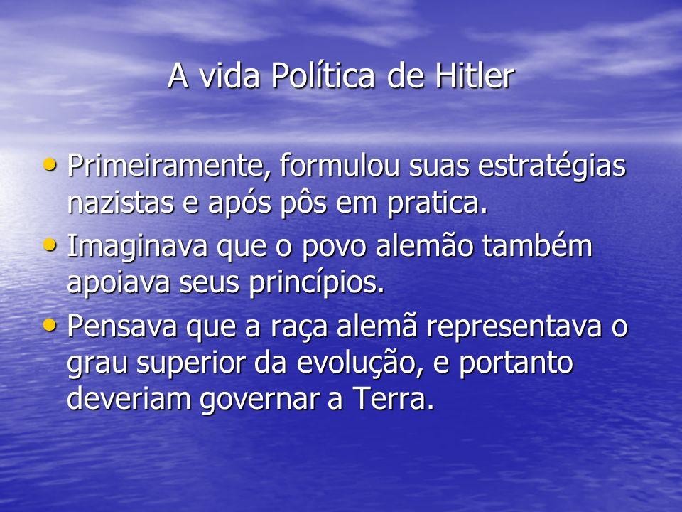A vida Política de Hitler
