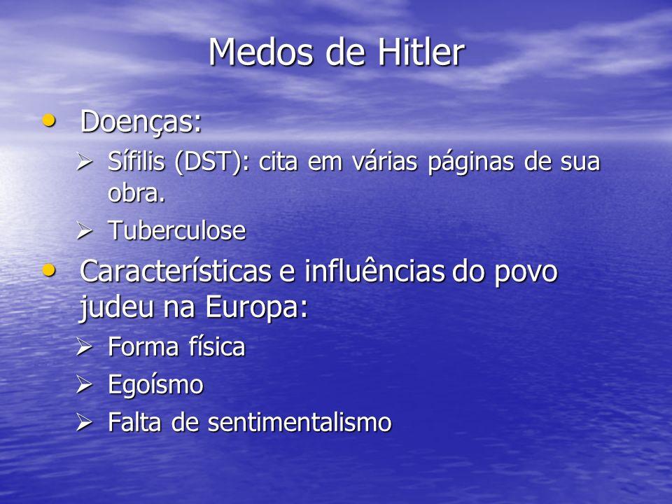 Medos de Hitler Doenças: