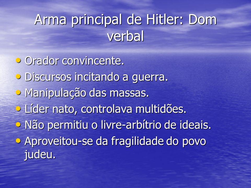 Arma principal de Hitler: Dom verbal