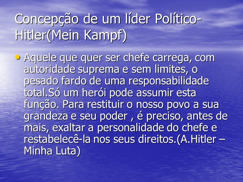 Concepção de um líder Político-Hitler(Mein Kampf)