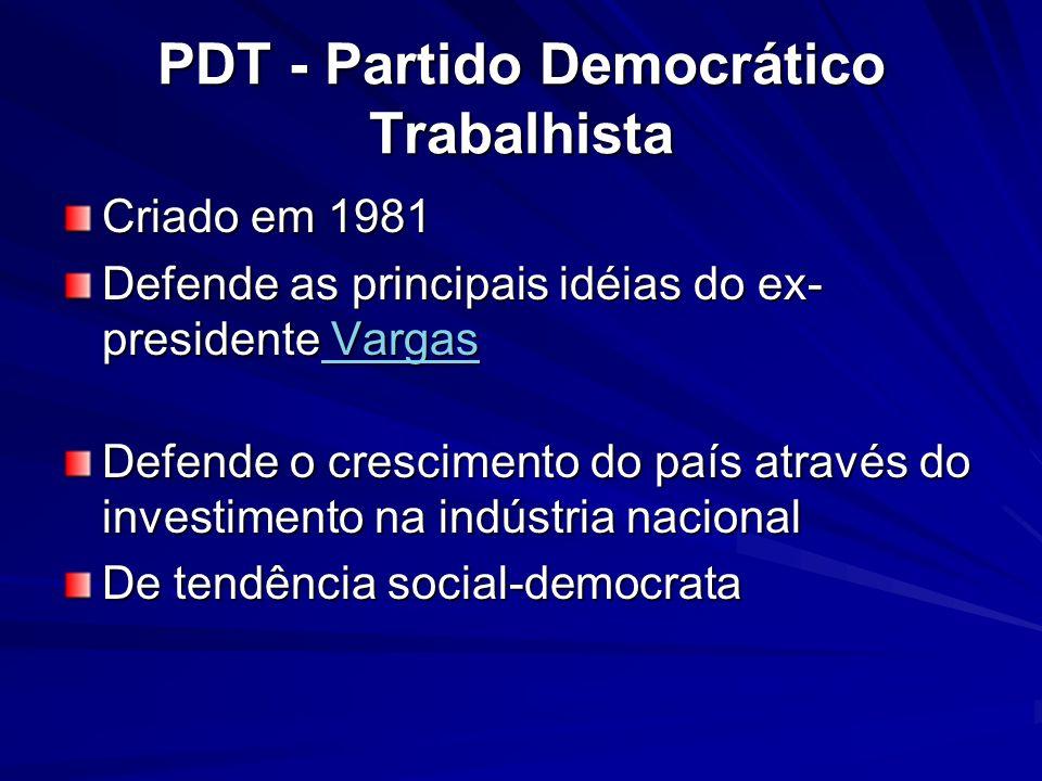PDT - Partido Democrático Trabalhista