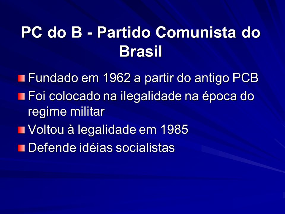PC do B - Partido Comunista do Brasil