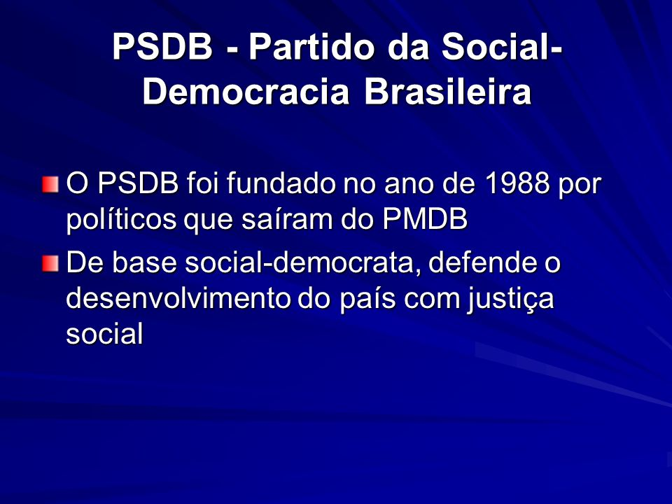 PSDB - Partido da Social-Democracia Brasileira