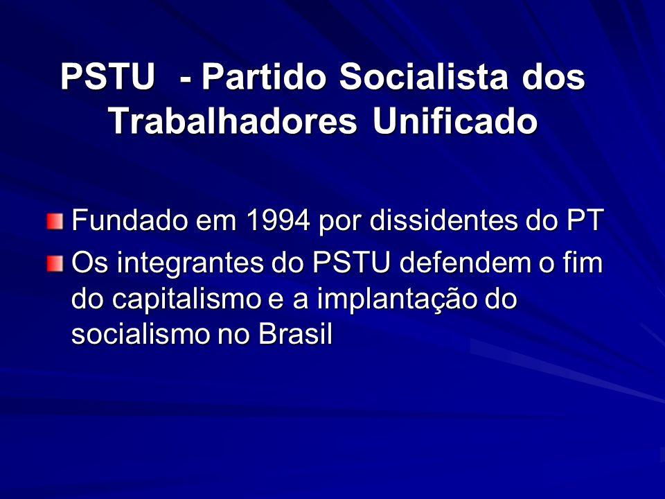 PSTU - Partido Socialista dos Trabalhadores Unificado