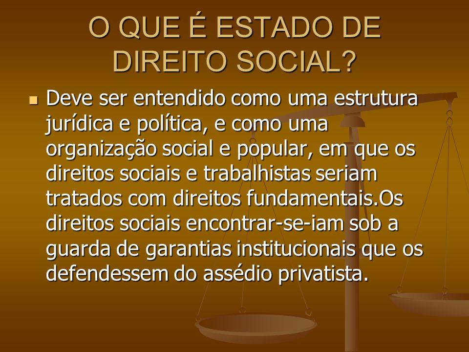 O QUE É ESTADO DE DIREITO SOCIAL