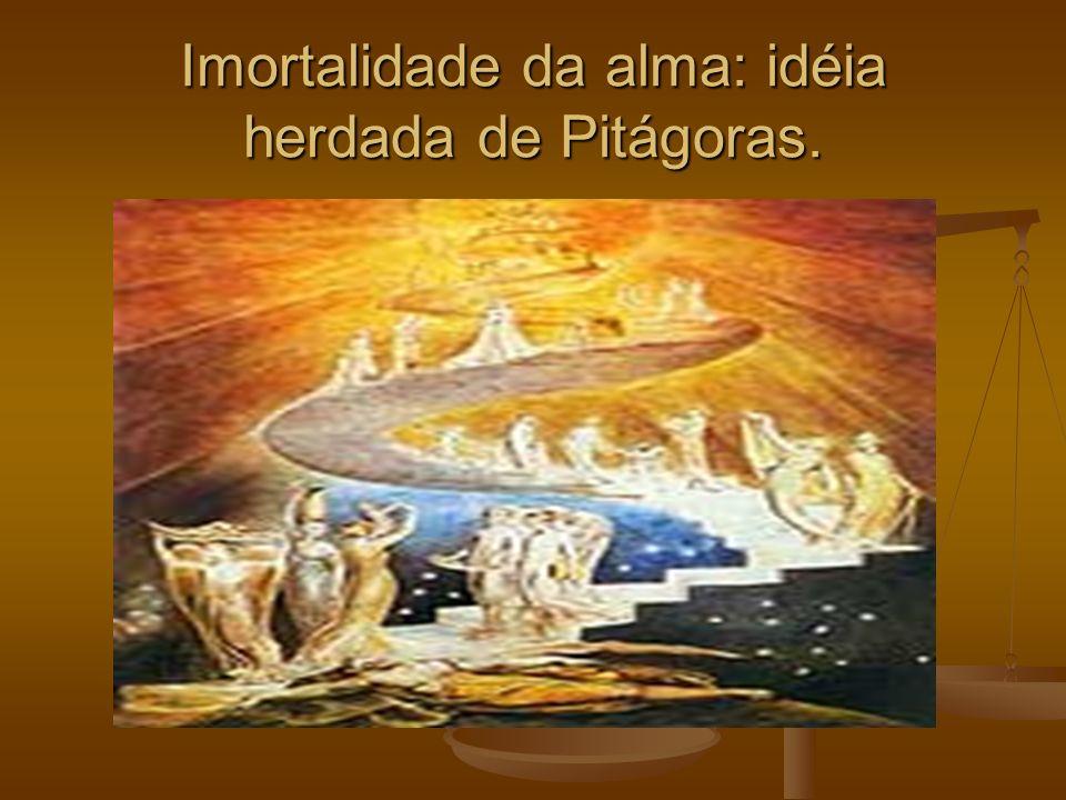 Imortalidade da alma: idéia herdada de Pitágoras.