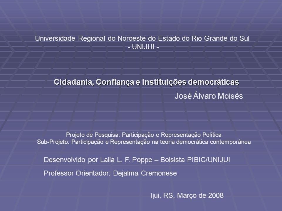 Cidadania, Confiança e Instituições democráticas