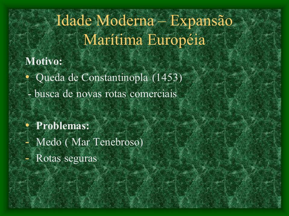 Idade Moderna – Expansão Marítima Européia