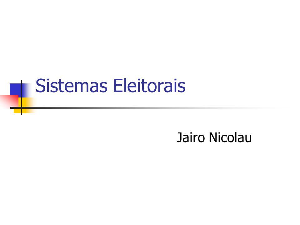 Sistemas Eleitorais Jairo Nicolau