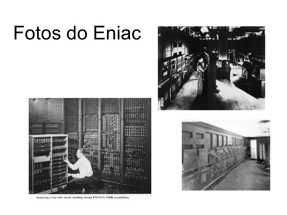Fotos do Eniac