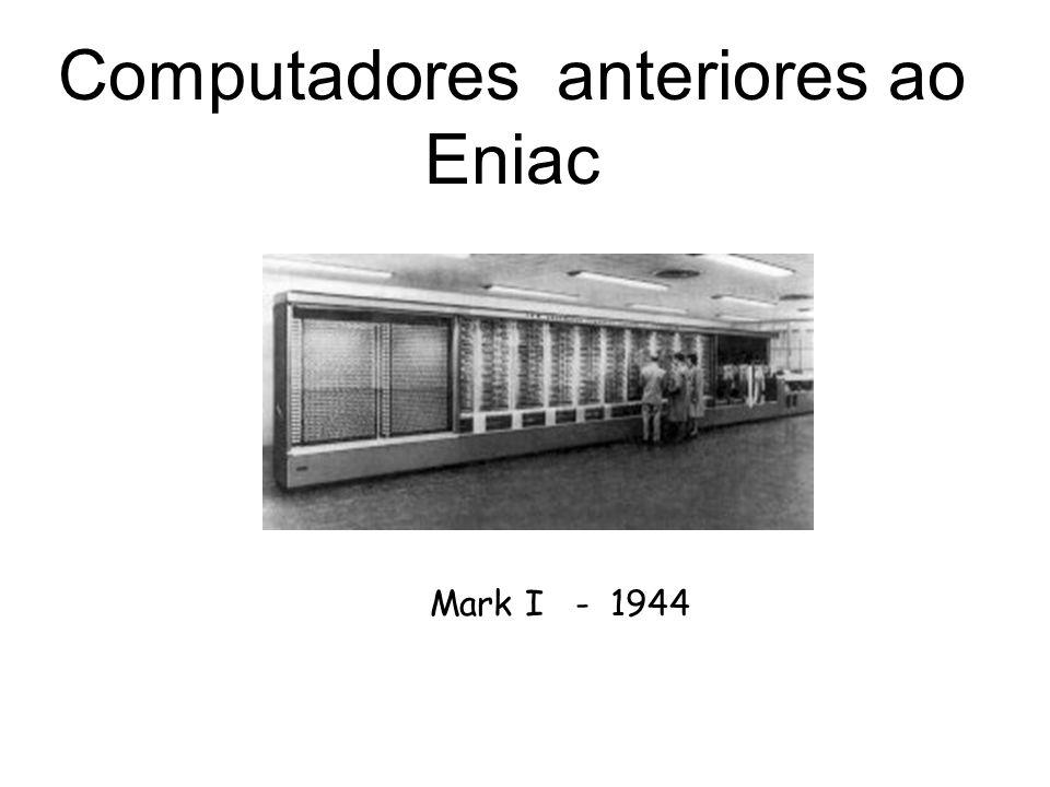Computadores anteriores ao Eniac