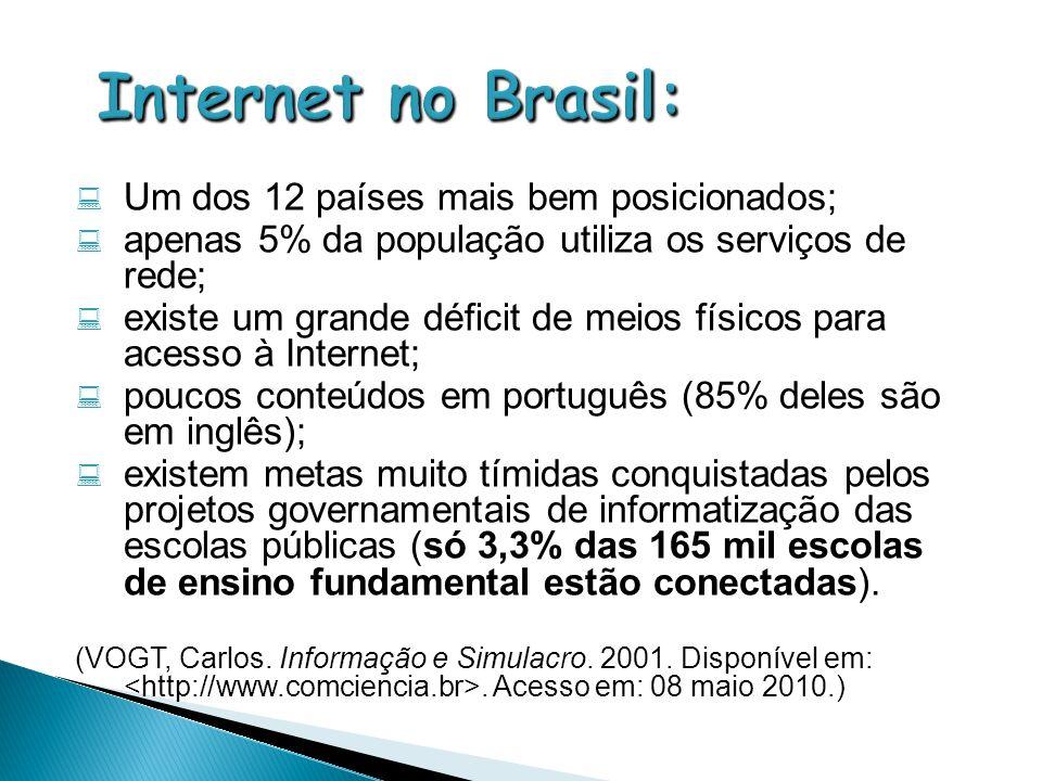 Internet no Brasil: Um dos 12 países mais bem posicionados;