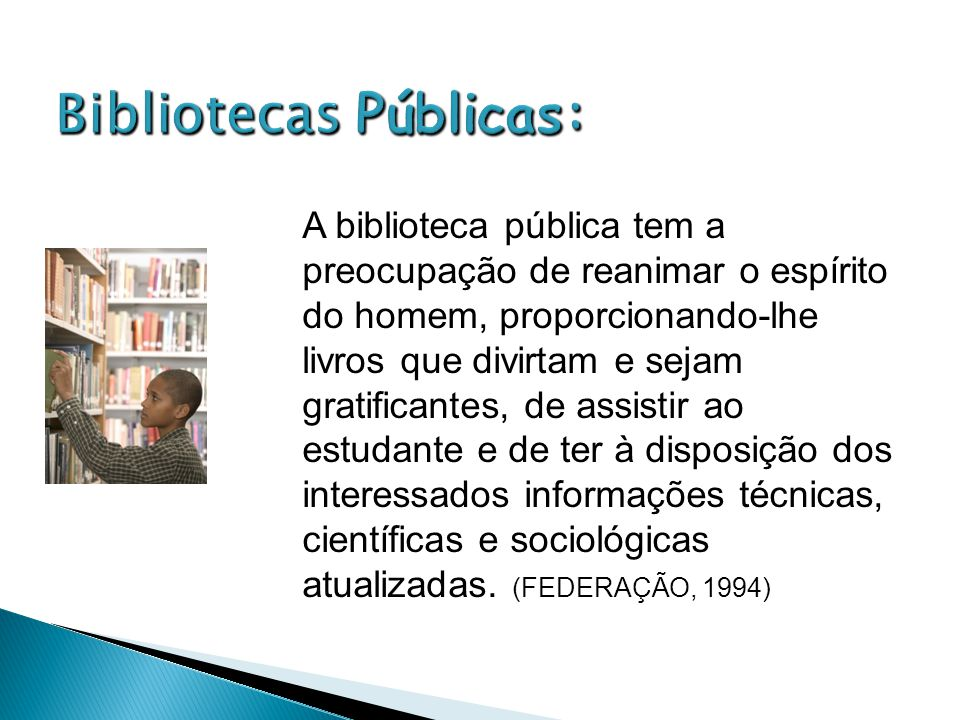 Bibliotecas Públicas: