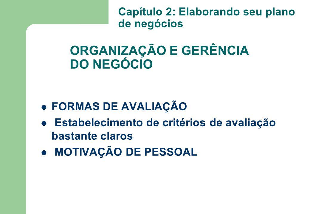 ORGANIZAÇÃO E GERÊNCIA DO NEGÓCIO