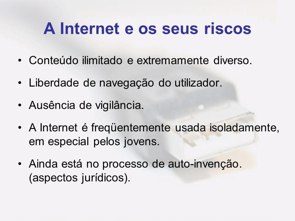 A Internet e os seus riscos