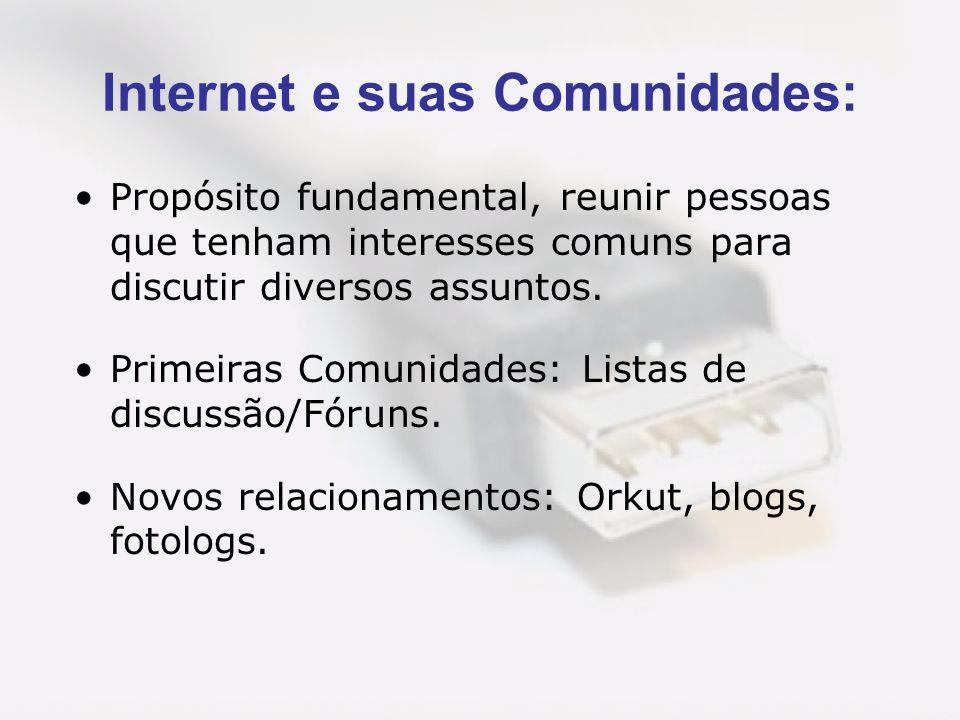 Internet e suas Comunidades: