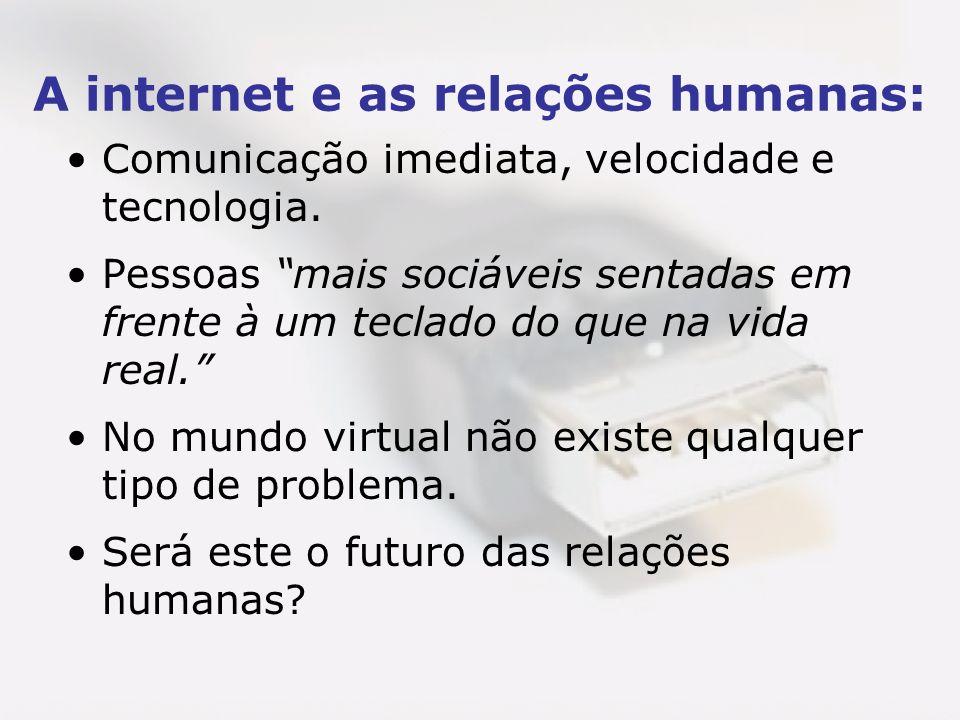 A internet e as relações humanas: