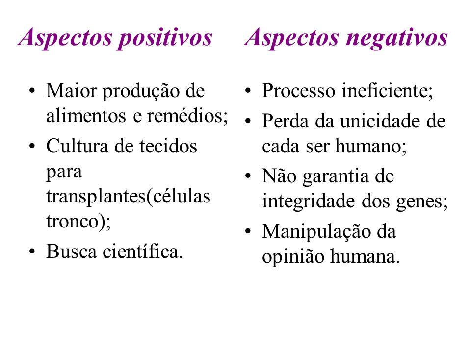Aspectos positivos Aspectos negativos