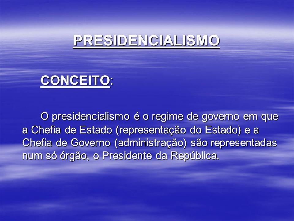 PRESIDENCIALISMO CONCEITO: