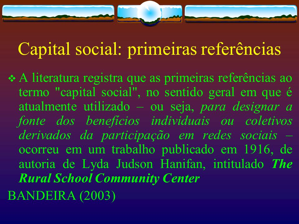 Capital social: primeiras referências