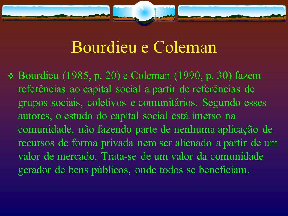 Bourdieu e Coleman