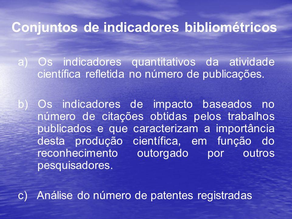 Conjuntos de indicadores bibliométricos