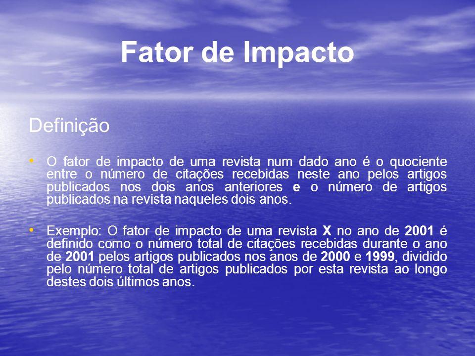 Fator de Impacto Definição