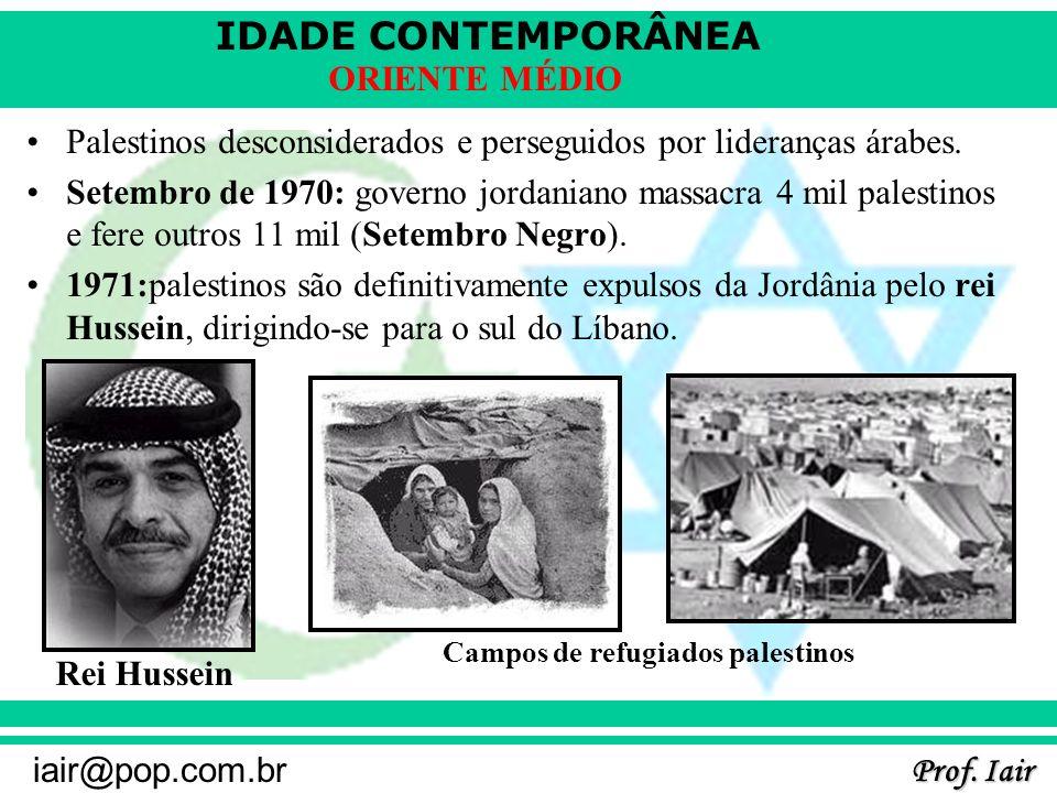 Palestinos desconsiderados e perseguidos por lideranças árabes.