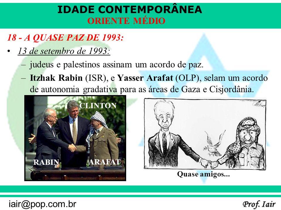 judeus e palestinos assinam um acordo de paz.