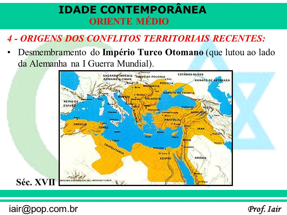 4 - ORIGENS DOS CONFLITOS TERRITORIAIS RECENTES:
