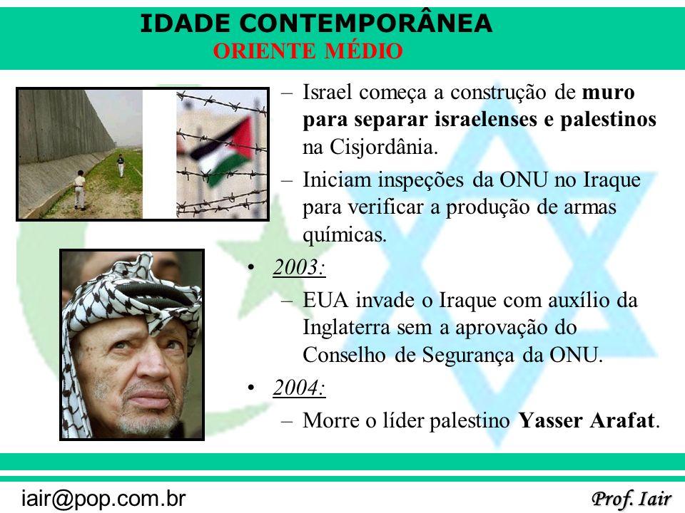 Israel começa a construção de muro para separar israelenses e palestinos na Cisjordânia.