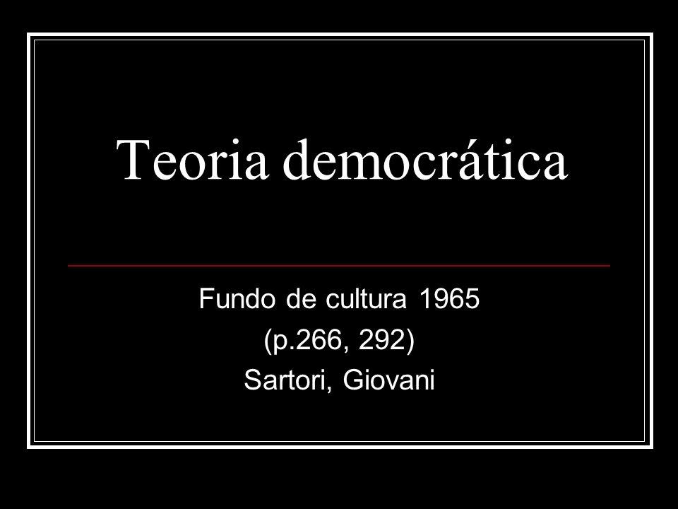 Fundo de cultura 1965 (p.266, 292) Sartori, Giovani